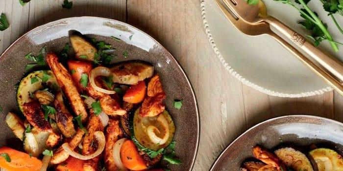 Salade marocaine au poulet